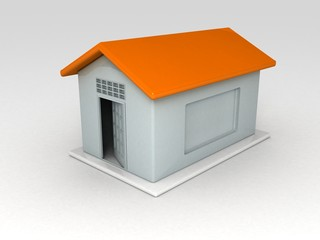 hut shape chit container on white background....