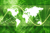 Green Stock Market World Economy Abstract Background poster