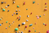 Close up of a bouldering wall for climbing poster