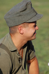 German soldier . WW2 reenacting