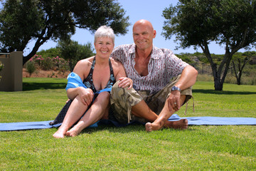 beautiful mature couple outdoors