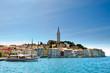 Leinwanddruck Bild - Rovinj: Historische Stadt in Istrien - Kroatien