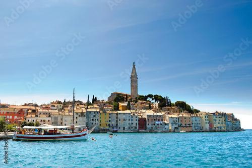 Leinwanddruck Bild Rovinj: Historische Stadt in Istrien - Kroatien