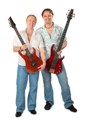 Two young men with guitars