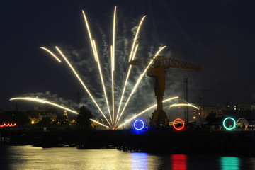 Feux d'artifices à Nantes 2