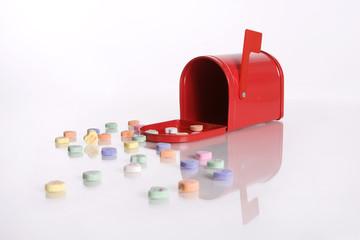 Red Valentine's Day Mailbox