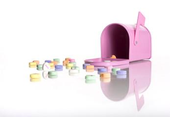 Pink Valentine's Day Mailbox