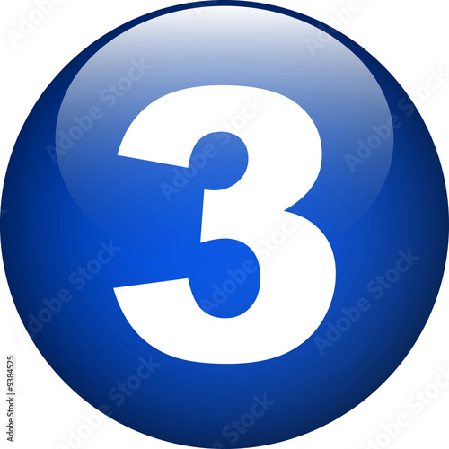 blue three button