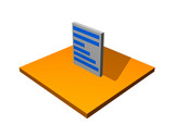 Purchase Order 3d Collection Series in Orange poster
