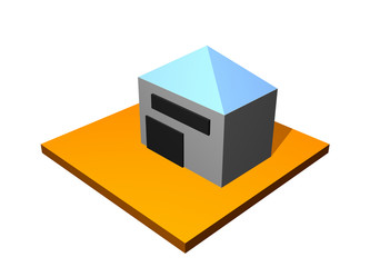 Warehouse Storage Building 3d Collection Series in Orange