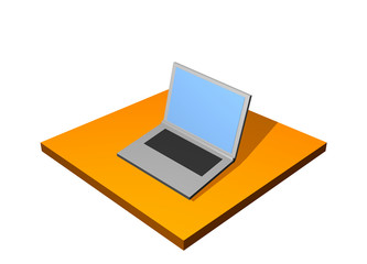 Laptop PC 3d Collection Series in Orange