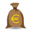 vector of full money sack of euros