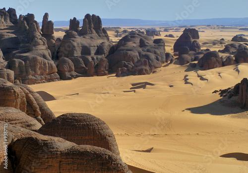 Foto op Canvas Algerije Vue du Sahara en Algérie