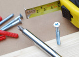 DIY tools with focus on crosshead screw poster
