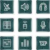 Media icons, electronics series