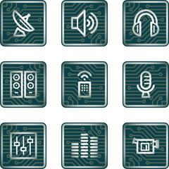 Media icons, electronics series