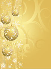 Decorative gold Christmas background