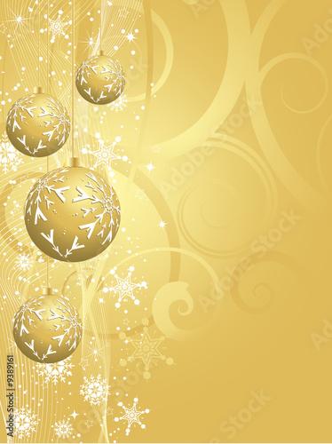 Decorative gold Christmas background