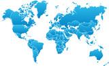 Fototapeta kontynent - świat - Mapa / Świat