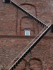 Treppe am Gemäuer