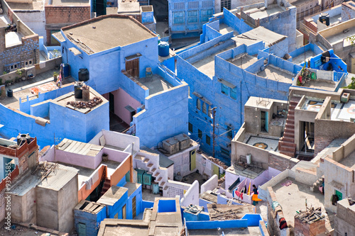 View of Jodhpur, the blue city. From the Mehrangarh fort.