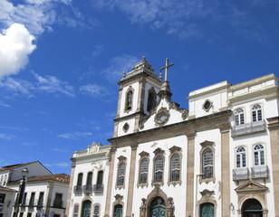 Eglise baroque, Salvador de Bahia, Brésil.