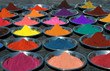 colorful tika powders on indian market, india - 9396562