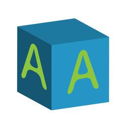 alfabeto su cubi