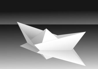 White paper ship