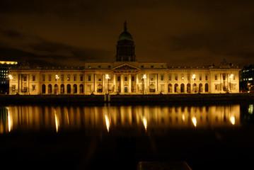 Dublin night 4, North of the Liffey, Custom House