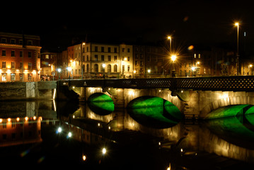 Dublin night 8, Grattan bridge