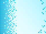 Blue background with pixels poster