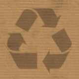 A corrugated cardboard texture with creases and wrinkles. poster