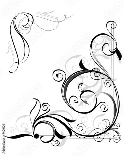 flower pattern tattoo. old fashioned floral pattern