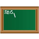 grüne Schultafel - ABC lernen poster
