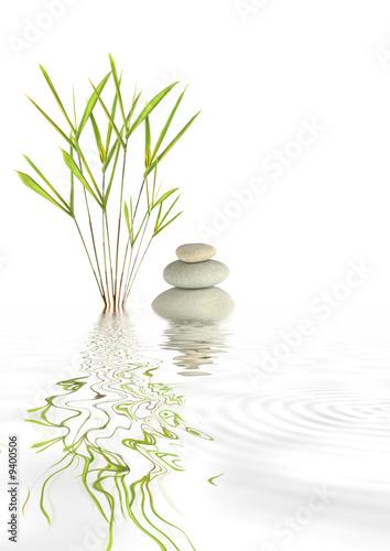 Leinwandbild Motiv Zen Spa Stones and Bamboo