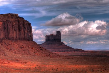 Stormy weather over Monument Valley