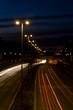 Autobahn mit Beleuchtung