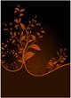 vector serie - tree in autumn vectorial flora design