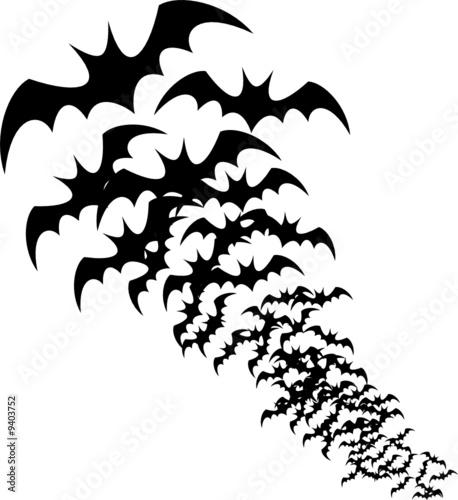 siluetas de murcielagos
