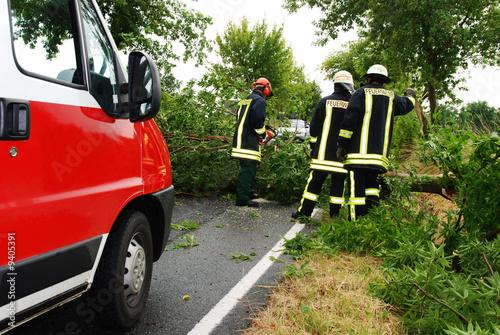 Feuerwehr beseitigt Unwetterschaden - 9405391