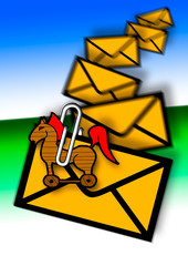 Troijan attachement in E-mail, junk mail