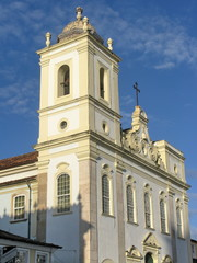 Eglise à un seul clocher, Bahia, Brésil.