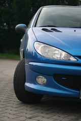 front of the car, peugeot 206 lights