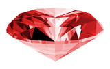 A 3d illustration of a ruby gem isolated poster