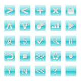 Simple Web Software Internet Buttons in Blue Tones poster
