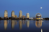 science world and false creek vancouver poster