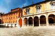 Italian square. High contrast effect with soft colors.