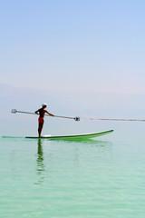 man rowing