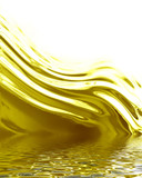 flowing oil with some smooth lines in it poster